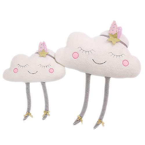 Lihan Almohada Instagram Forma de Nube nórdica Nursery Cojines de 100% Peluche bebé Juguetes Regalo...