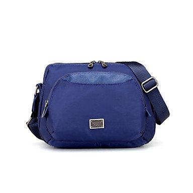 SUNNY KEY-Borsa a tracolla @ Da donna Nylon Per tutte le stagioni Secchiello Cerniera Blu Nero Viola , blue black