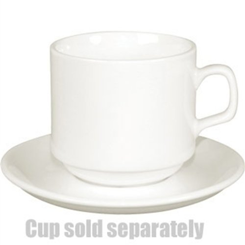 Lumina Belle Cina CD642impilabili, piattini da caffè, Bianco (Confezione da (Cina Tazze Set)