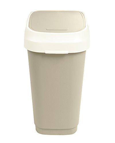 Ondis24 Dual Swing Mülleimer Abfallsammler L 50 Liter (Braun)