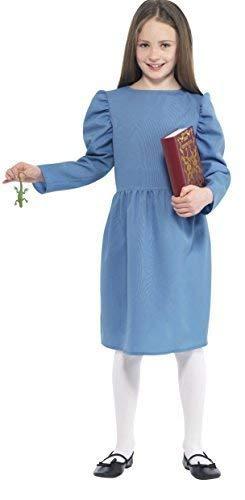 Tag Dahl Kostüm Roald - Mädchen Roald Dahl Matilda mit Accessoires Buch Tag Kostüm Verkleidung Outfit