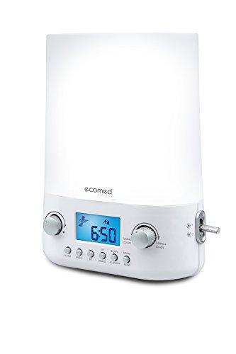 ecomed-wl-50e-lichtwecker-lichtintensitt-in-10-stufen-naturklnge-radio-alarm-und-snooze-funktion