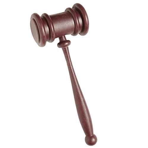 Amakando Auktionshammer Aktion Gerichtshammer Richter Hammer Richterhammer Karnevalskostüme Zubehör Anwalt Kostüm Accessoire Professor Klopfer