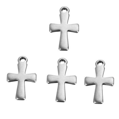 HooAMI 20X. Oberfläche Kreuz charms (Lochgröße 1.2 mm) kleiner Anhänger 12mmx7mm (Kleine Anhänger)