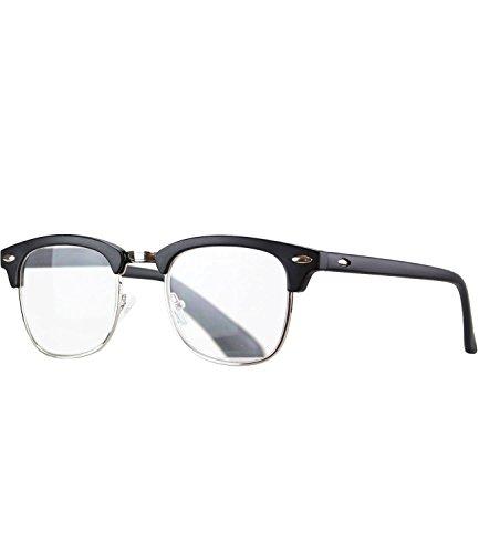 Caripe Lesebrille Herren Damen Retro Brille 50er 60er Nerd Lesehilfe - M4082 (+ 2,0 dpt, schwarz...