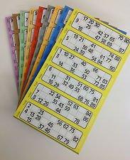 Jumbo Bingo Ticket Singles, 6 to View Pad,