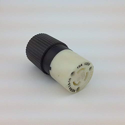 Bryant Hubbell 4732NC 15A Twist Lock L5-15 Locking Connector 2P 3W w w/Ground 125V Hubbell Twist-lock