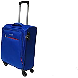 American Tourister 89725-1971 bolsa de equipaje Tranvía Negro, Azul Poliéster - Bolsa de viaje (Tranvía, Negro, Azul, Poliéster, 4 rueda(s), Cremallera, 1 pieza(s))
