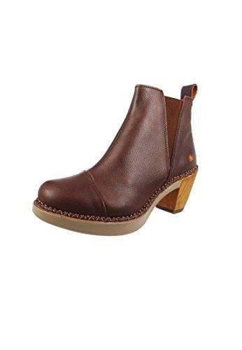 Art Leather Mountains Boot Boots Negro Negro 0917 Marrón
