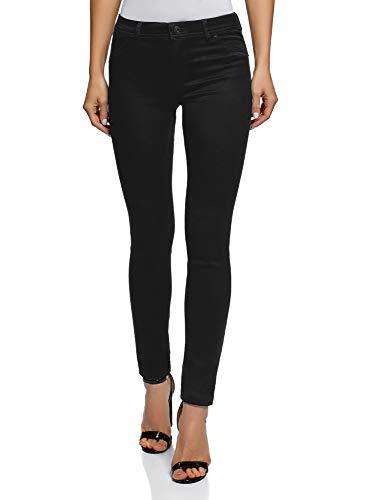 oodji Ultra Damen Jeans Skinny aus Weichem Stoff, Schwarz, 29W / 32L...
