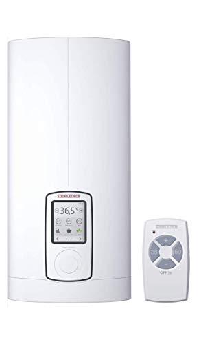 Stiebel Eltron vollelektronischer Durchlauferhitzer DHE 18/21/24 kW, umschaltbar, druckfest, Touch Display, ECO-Modus, Fernbedienung, gradgenaue Wunschtemperatur, 234459, Weiß/234460