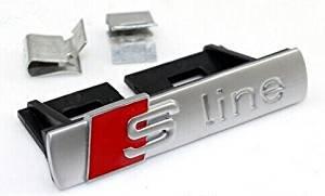 "Preisvergleich Produktbild Time Out Paris Logo ""S line"" für den Kühlergrill für A1 A3 A4 A5 A6 A8,  silber matt"