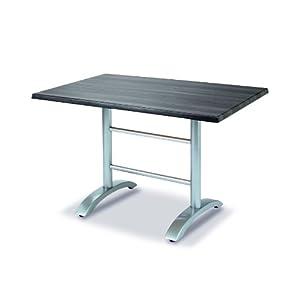 BEST 43541566 Tisch Maestro rechteckig 120 x 80 cm, anthrazit/Pinie