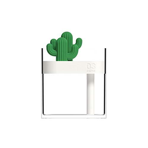 TOPmountain Luftbefeuchter für Schlafzimmer zu Hause,Poetable Small USB Humidifier Cactus - Nachtlicht,geräuscharm und wasserlos Auto Off
