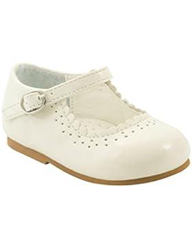 Primeros zapatos para caminar para niña bebé, antideslizantes, diseño español, estilo Emma, colores blanco, azul...