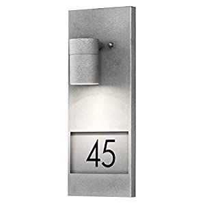 Konstsmide Modena House Number Down Light - RAW Galvanised Steel