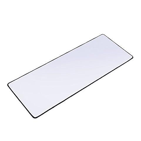 Xyk Blanc Gaming Mouse Pad Grande taille (800x 300x 3mm) Extended Gamer Tapis de souris avec base en caoutchouc antidérapant, Special-textured Surface, prise en charge pour ordinateur, PC et ordinateur
