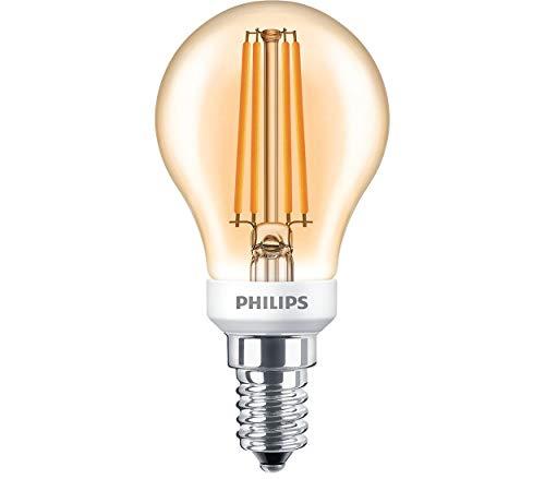 Fünf-licht-leuchter-glühlampen (Philips Classic LEDBulb D 5-35W E14 GOLD P45 CL LED-Lampe, Filament)