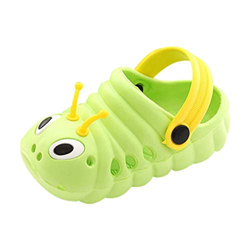 Xmiral Baby Girls Kids Sandals Lovely Caterpillar Water Shoes Flip Flops Barefoot Beach Shoes