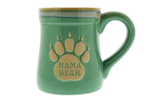 Lustige Kaffeetasse mit Mama-Bär-Motiv, aus Keramik, mit Aufschrift