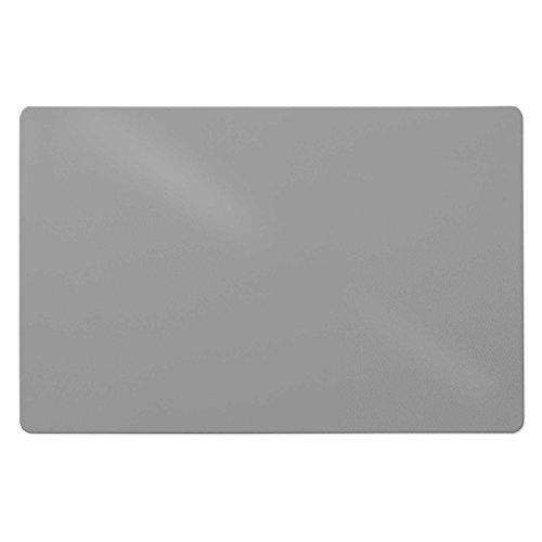 Trendige Bodenschutzmatte für Hartböden   PVC- und phthalatfrei   Grau   Größe wählbar (120 x 150 cm)