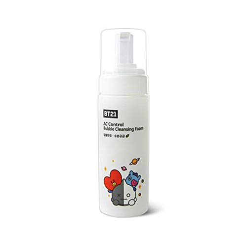 Rich Foaming Cleanser (TN X BT21 AC Control Bubble Cleansing Foam Mild Botanic Ingredients Rich bubble Foaming Cleanser for Sensitive and Acne Skin Korean Skincare K-beauty #Dab1084)