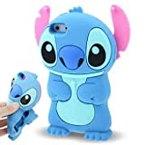 ZIMA Coque Housse Etui en Silicone Pour Iphone 7 ( 4,7'' ) - Lilo & Stitch - Bleu