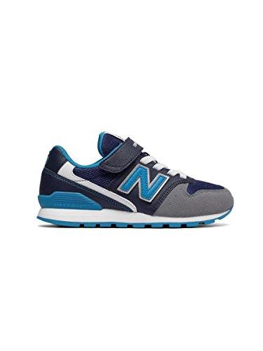 NEW BALANCE - Ginnastica blu 996, in microfibra, chiusura a strappo, lacci elastici, ragazzo e ragazzi, Bambino Blue Jeans
