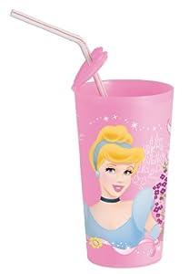 Disney Princess - Vaso decorado con princesa Disney, Rosa, 415 ml (734208)
