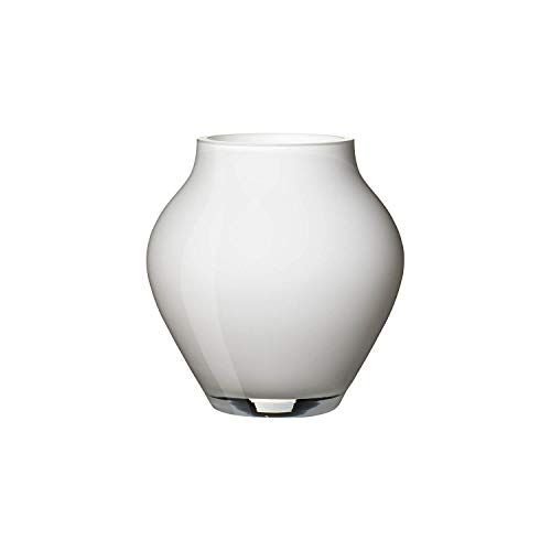 da Mini Vase Arctic Breeze, 12 cm, Glas, Weiß ()