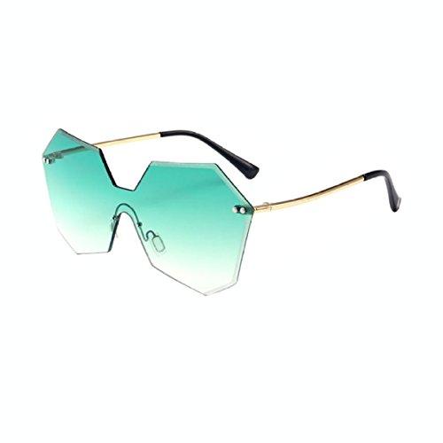 GTYMFH Frauen Männer Polygon-Sonnenbrille,Green-OneSize