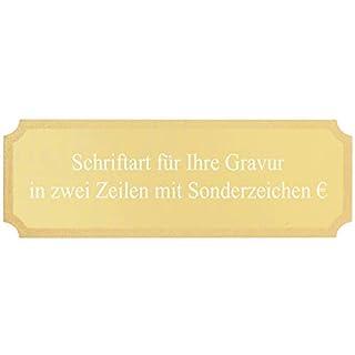 pokalspezialist Gravurplatte Gold 50 x 17 mm Gravurschild für Pokale mit Wunschgravur - jetzt selbst gestalten
