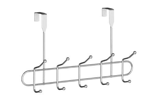 Premier Housewares - Perchero para puerta, 10 ganchos, cromo