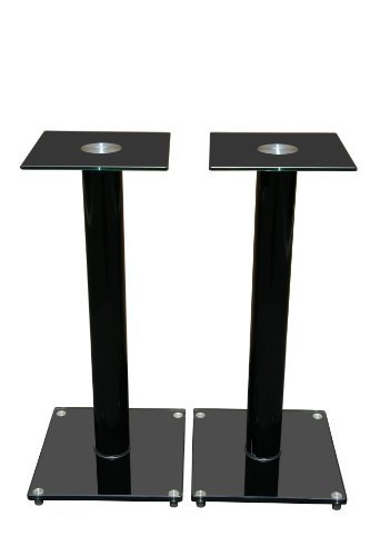 Mount-It! Premium Aluminum and Glass Speaker Stands for Home Theater Satellite Speakers and for Bookshelf Speakers (Black)  available at amazon for Rs.11999