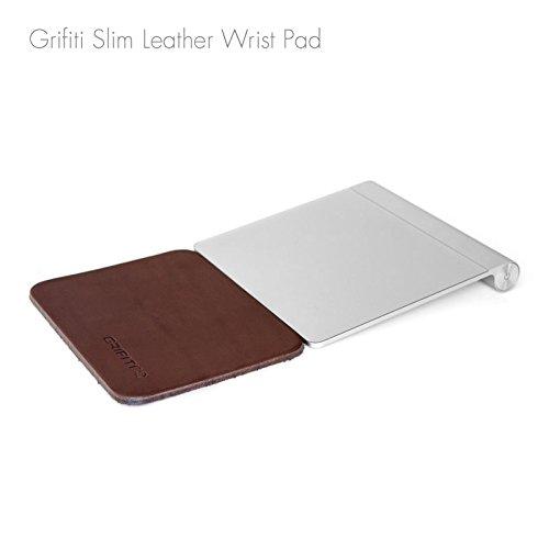 Grifiti Leder Slim Wrist Pad 5Rest für Apple Trackpad, Mobee Numpad, Slim Mäuse und Tastaturen