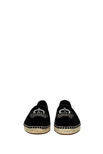 A50037AR20780999 Dolce&Gabbana Espadrilles Homme Velours Noir Noir