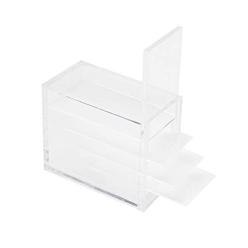 Wimpern Aufbewahrungsbox, 5 Schichten Falsche Wimpern Organizer Fall Kunststoff Make-up Aufbewahrungsbox Pfropfen Wimperns Kleber Palettenhalter
