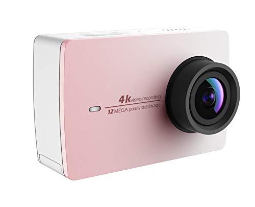 YI 4K Action Kamera 4K/30fps Videoaufnahme 12MP ActionCam mit 155° Weitwinkel 5,56 cm (2,2 Zoll) LCD Touchscreen, WiFi und App für Smartphone, Sprachbefehl-Rosa
