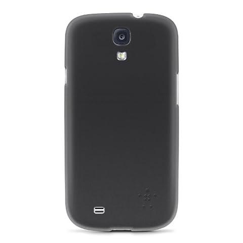Belkin Micra Fine Poly Carbonate Translucent Cover Case for Samsung S4 - Blacktop