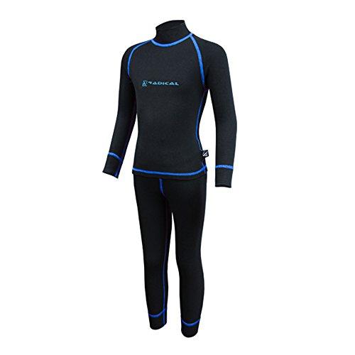 ROUGH RADICAL Kinder Funktionsunterwäsche Set Shirt & Hose Thermounterwäsche (140/146, Billy schwarz/blau)