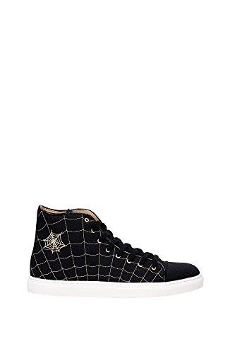 sneakers-charlotte-olympia-hombre-tejido-negro-y-oro-m001176cmc0001-negro-42eu