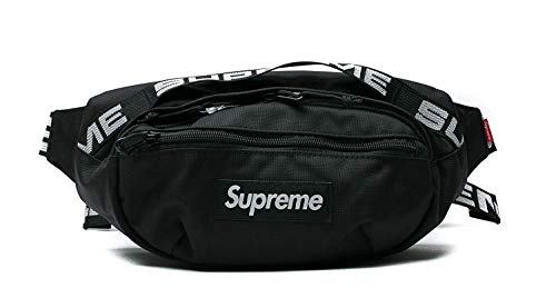 S upreme Marsupio,bag supreme,suprme zaino (nero)