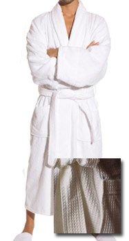 Peignoir gaufré Blanc Style hôtel avec poches et ceinture de la Grande Taille Par Majestic Lit