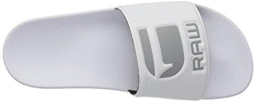 G-STAR RAW Herren Cart Slide Offene Sandalen Weiß (White)