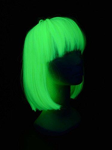 Schwarzlicht High Quality Perücke Fever Elise Neon Gelb