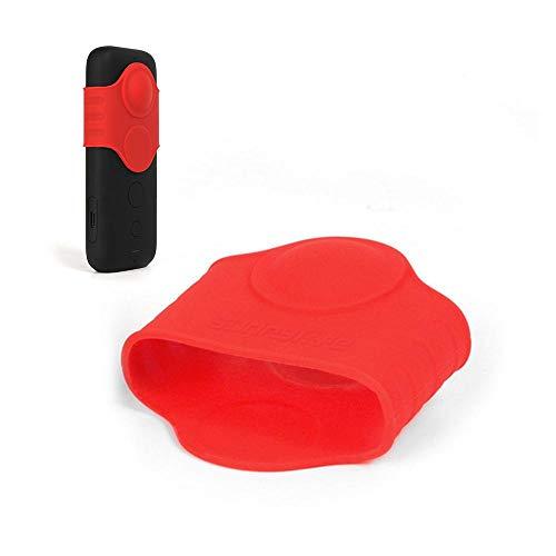 Hamkaw Silikon-Schutzhülle und Fischaugen-Objektivschutzhülle, kompatibel mit Sta 360 One X Action-Kamera, wasserdicht, weich/leicht, Panorama-Action Kamera-Schutzabdeckung für Sta 360 One X Deep-red -
