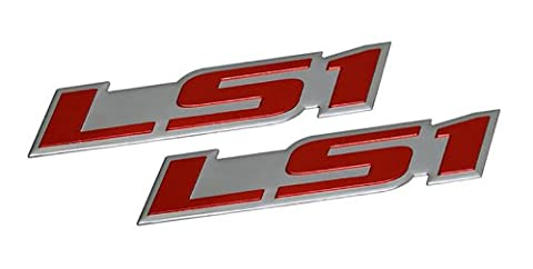 2 x (pair/set) LS1 Embossed RED on Highly Polished Silver Real Aluminum Auto Emblem Badge Nameplate for Chevrolet Chevy Corvette C5 Camaro Z28 SS Pontiac Firebird Formula Trans Am GTO Holden Special Vehicles Clubsport R8 SE VT VX Y Series Grange GTS Maloo R8 Senator Signature 300 Coupe LE Coupe4 AWD GTO GTS SV300 Avalanche XUV AWD Monaro Elfin MS8 Streamliner Clubman 98 99 00 01 02 03 04 05 06 07 08 09 10 11 12 13 1998 1999 2000 2001 2002 2003 2004 2005 2006 2007 2008 2009 2010 2011 2012 2013
