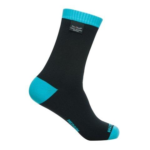 Dexshell Wasserdichte Socken Coolvent Lite, Blau (Aqua Blue) Schwarz / Aquamarin X-Large UK 12-14 (Blue-aqua-socken)