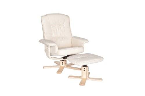 Amstyle Comfort Relaxsessel mit Hocker - 2