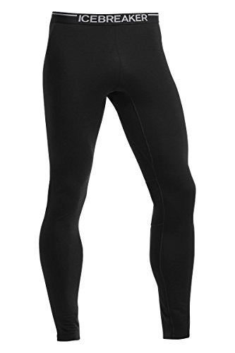 Icebreaker Herren Zone Leggings, Black/Monsoon, L, 102647